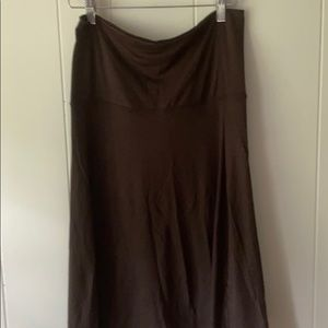 Old Navy Olive Green Knit Fold Over Skirt (S)